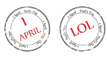 Grunge rubber stamp with the text Fools Day - 1 April written inside, vector illustration