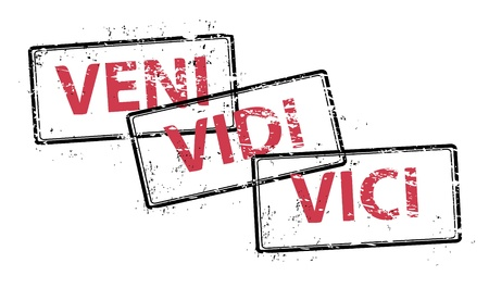 VENI, VIDI, VICI out grunge stamp Stock Vector - 9087227