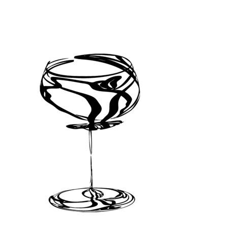 champagne toast: stylized wine glass for fault