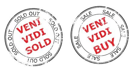 the sold out grunge stamp illustration Stock Illustration - 9219490