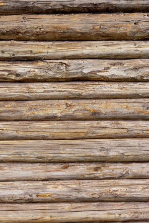 The Wooden logs wall of rural house background