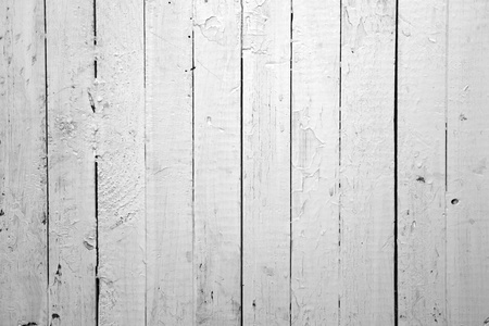 painted wood: the background of weathered white painted wood