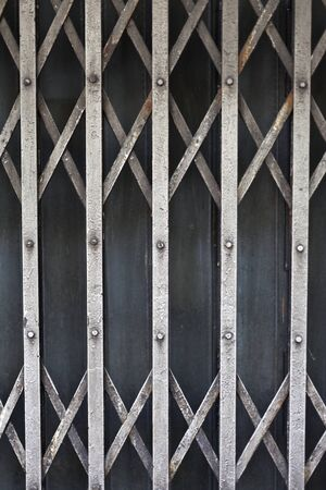 Rusty old corrugated iron fence close up. Stock Photo - 12046312