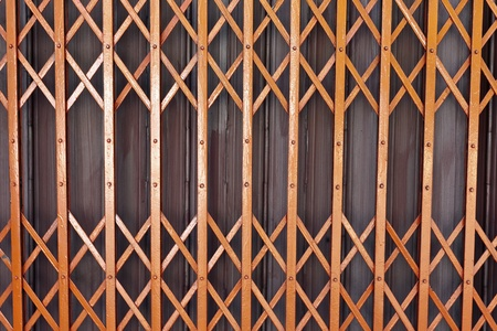 Rusty old corrugated iron fence close up  Stock Photo - 13268622