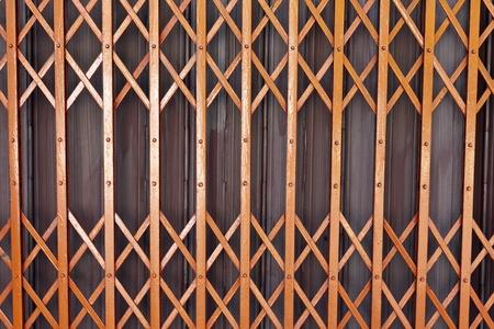 Rusty old corrugated iron fence close up Stock Photo - 13268622