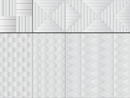 set of nine white seamless pattern Stock Photo - 15041880
