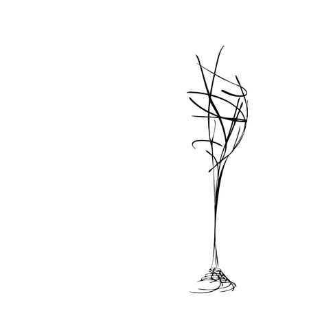 El vidrio de vino estilizado hermoso por culpa