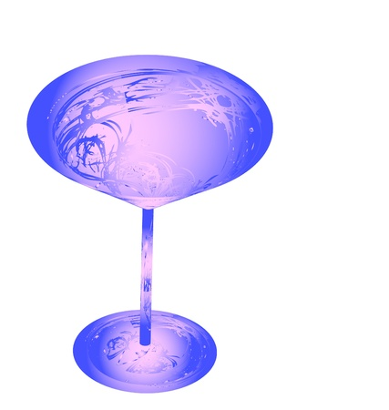 The beautiful stylized wine glass for fault Stock Photo - 15639006