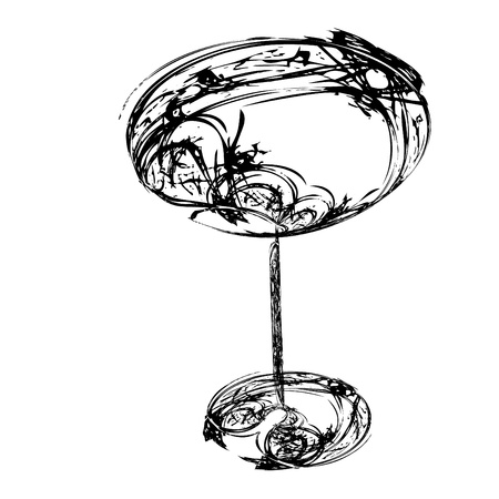The beautiful stylized wine glass for fault Stock Photo - 15639014