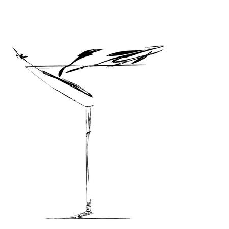 断層の美しい様式化されたワインのガラス