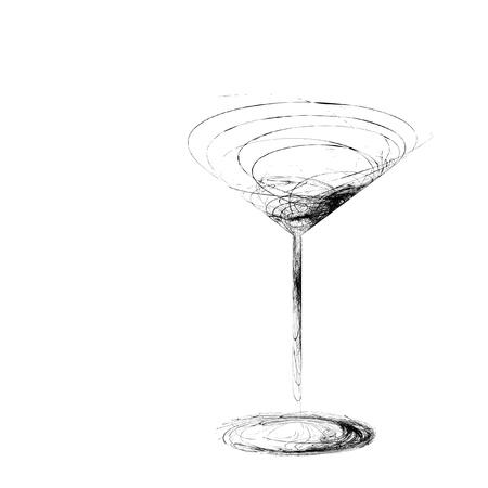 Die schöne stilisierte Weinglas für Fehler Standard-Bild - 15639017