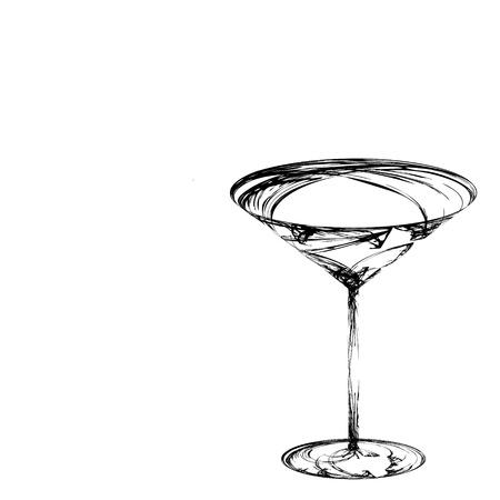 断層の美しい様式化されたワイングラス 写真素材