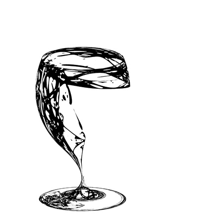 The beautiful stylized wine glass for fault photo