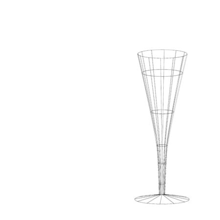 The beautiful stylized wine glass for fault Stock Photo - 15639027