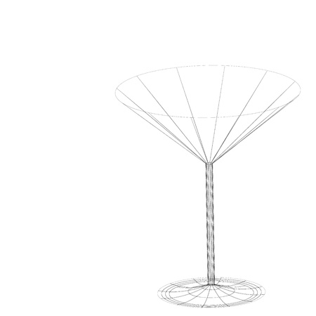 The beautiful stylized wine glass for fault Stock Photo - 15639033