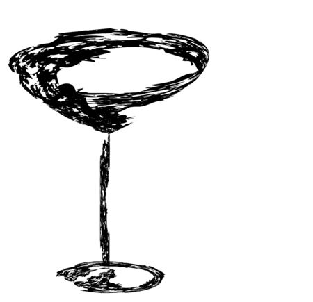 The beautiful stylized wine glass for fault Stock Photo - 15639034