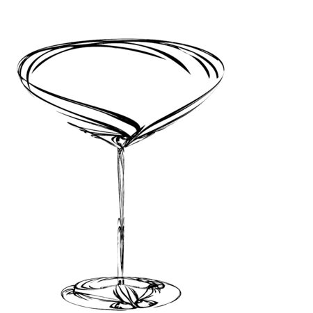 The beautiful stylized wine glass for fault Stock Photo - 15639032