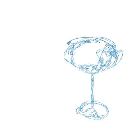 The beautiful stylized wine glass for fault Stock Photo - 15638854