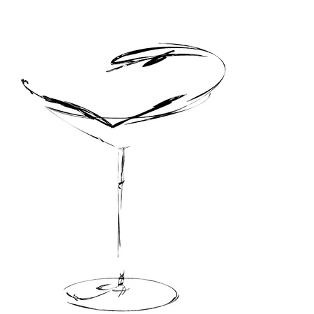 The beautiful stylized wine glass for fault Stock Photo - 15639025