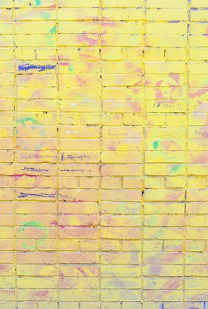 Graffiti On Brick Wall  Background high detailed fragment stone photo