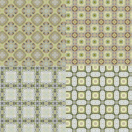 set Vintage shabby background with classy patterns  Seamless vintage delicate colored wallpaper  Geometric or floral pattern on paper texture in grunge style Stock Photo - 16203791