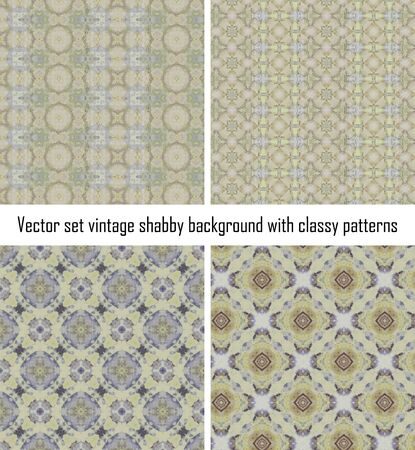 set vintage background classical patterns Stock Vector - 16516848
