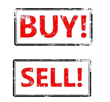 the grunge Vector buy end sell stamp Stock Vector - 16516835