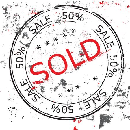 the grunge Sold stamp Stock Vector - 16516857