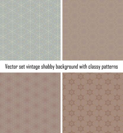 Seamless vintage delicate colored wallpaper. Geometric or floral pattern on paper texture in grunge style. Stock Vector - 16588987