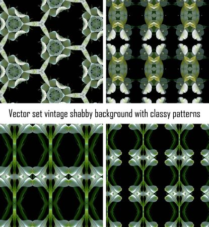 Vintage shabby background with classy patterns. Seamless vintage delicate colored wallpaper. Geometric or floral pattern on paper texture in grunge style. Stock Vector - 16875091