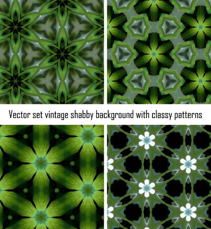 Vintage shabby background with classy patterns. Seamless vintage delicate colored wallpaper. Geometric or floral pattern on paper texture in grunge style. Stock Vector - 16875250