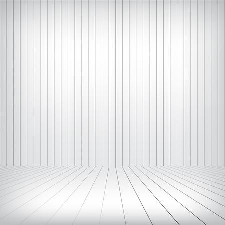 White wood interior Stock Vector - 17086322