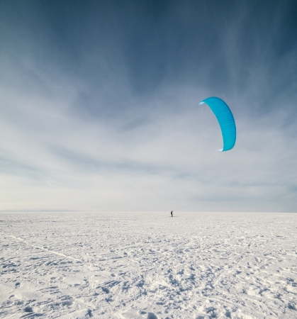 Kiteboarding or snow kite photo