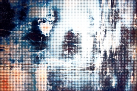 Technology textured halftone olored iron grunge background