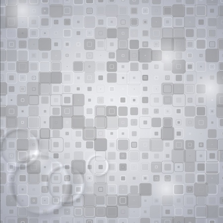 Abstract Geometric Square Technical Background. Retro Squares Vector