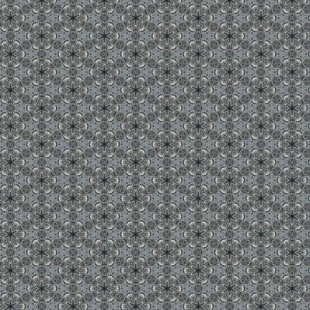 Vintage shabby background with classy patterns. Geometric or floral pattern on paper texture in grunge style. photo