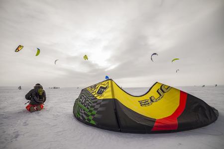snowkiting: Togliatti, Russia  - February 5-8: All-Russian competition for snowkiting Marathon Zhigulevskoye Sea 2015