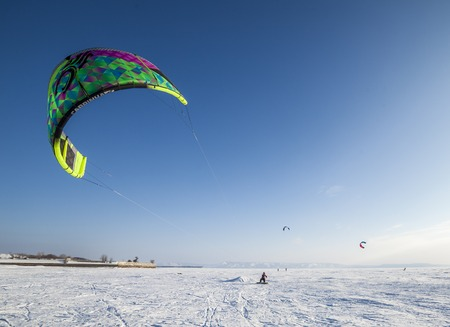 snowkiting: Togliatti, Russia  - February 5-8: All-Russian competition for snowkiting Marathon Zhigulevskoye Sea 2015
