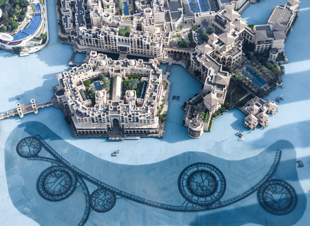 mall of the emirates: View on Dubai from the highest tower in the world, Burj Khalifa Stock Photo