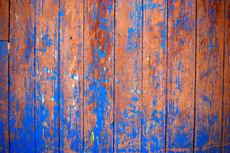 hammered: Dirty, stained by a paint the hammered together fence Stock Photo