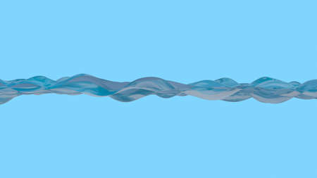 Water line isolated on a blue background. 3D rendering Standard-Bild