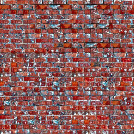 Weathered red brick wall texture seamlessly tileable