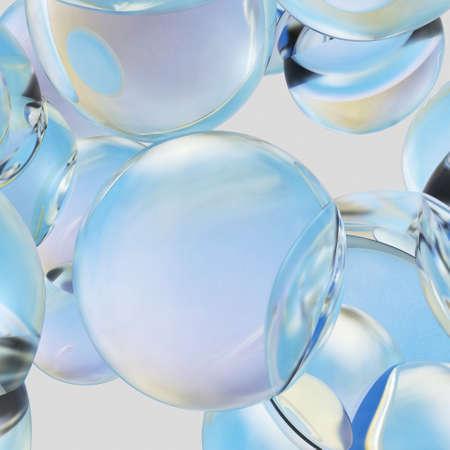 Background of beautiful water drops. 3D rendering Standard-Bild