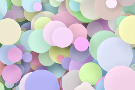Multicolored decorative balls. Abstract 3D illustration or rendering