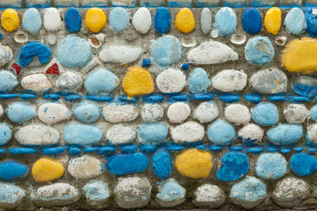 The colorful stone texture background. Brick wall