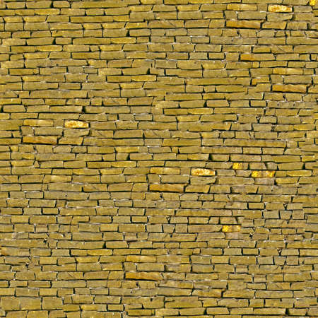 Yellow brickwork seamless background - texture pattern for continuous replicate.