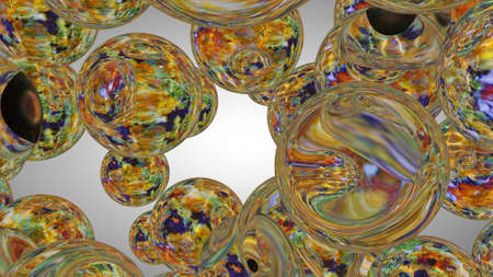 The Abstract colorful circles background. 3D rendering
