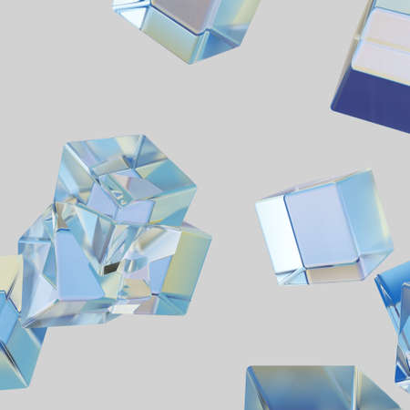 Abstract background of ice structure, 3D rendering