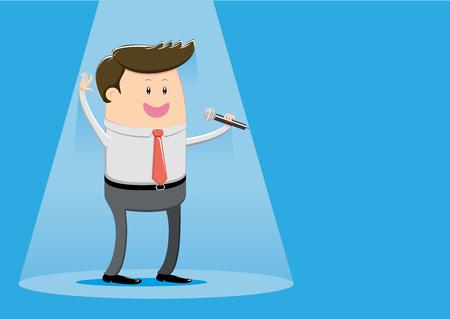 Show business  businessman Иллюстрация
