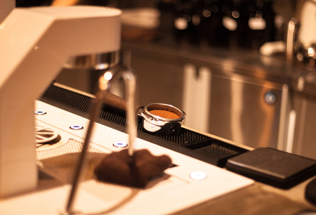 macchiato: Perfect Espresso Shot Tamping by Barista